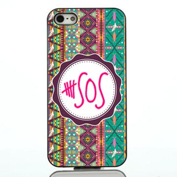 5 second of summer logo chevron aztec pink iphone case,samsung case