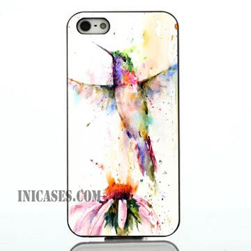 Colorful Watercolored Hummingbird iphone case,samsung case