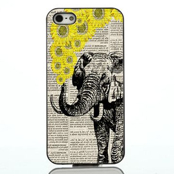 Elephant with sunflowers iphone case,samsung case