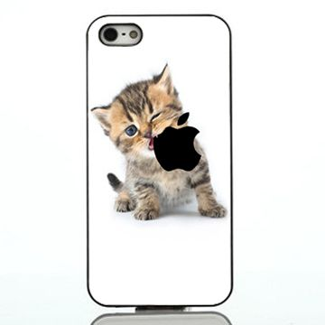 Kitten Eating Apple iphone case,samsung case