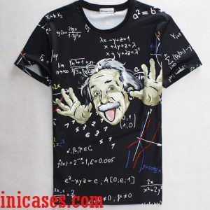 Albert Einstein full print shirt two side