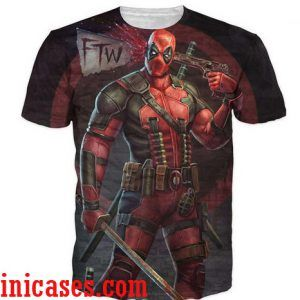 Deadpool full print shirt two side