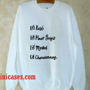 Wine Checklist Sweatshirt