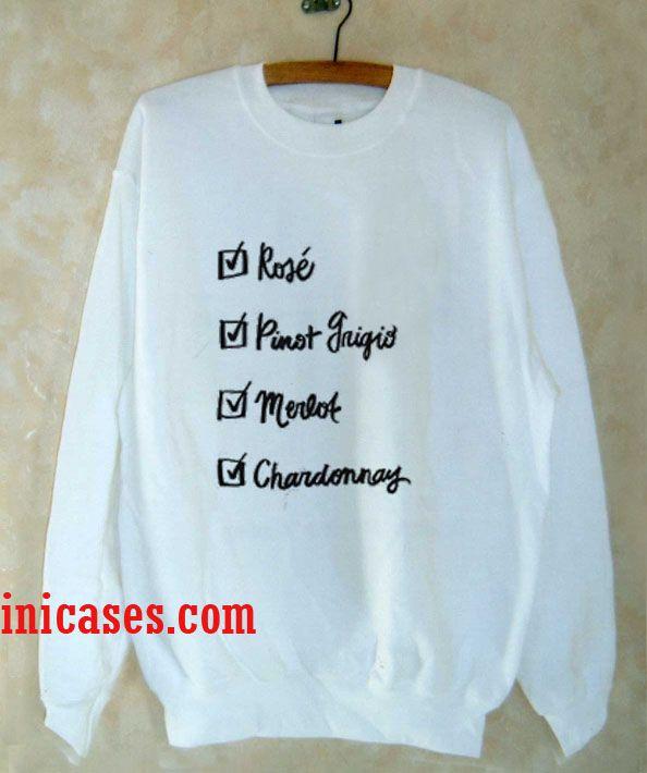 Wine Checklist Sweatshirt