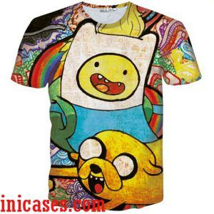 adventure time full print graphic shirt two side