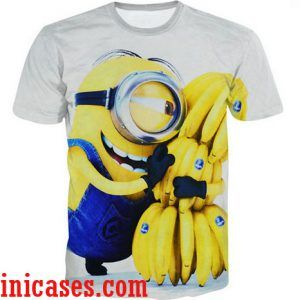 banana minion full print shirt two side