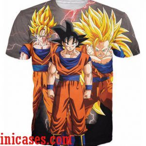 dragon ball Sun goku full print shirt two side