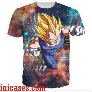dragon ball vegeta full print shirt two side