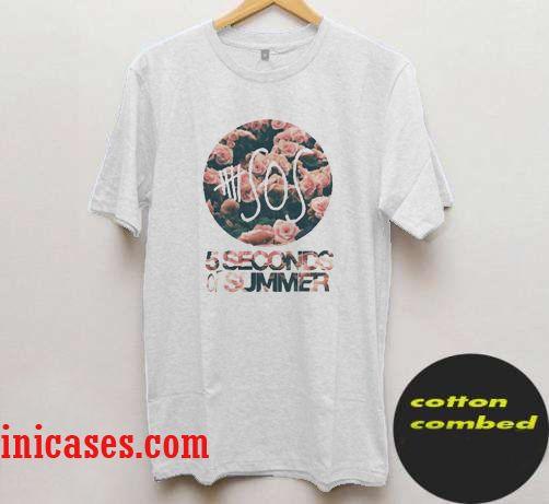 5 Seconds Of Summer flower T Shirt