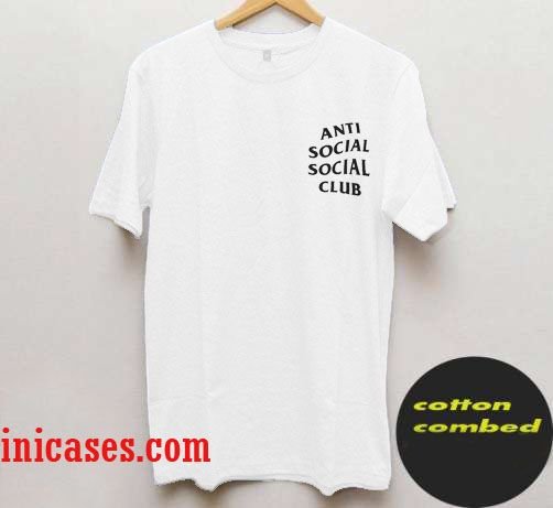 Anti Social Club Pocket Design T Shirt