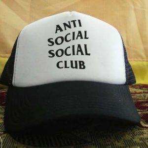 Anti social printed design Trucker Hat personalized trucker cap