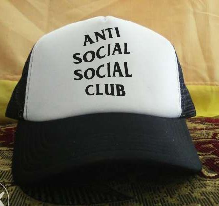 Anti social printed design Trucker Hat personalized trucker cap