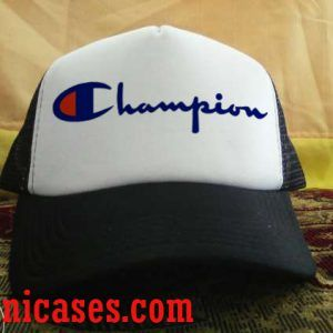 champion logo Trucker Hat printed design