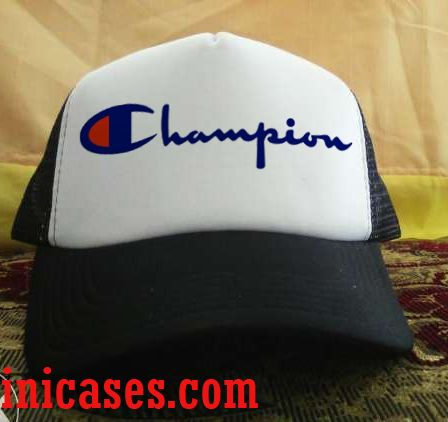 champion logo Trucker Hat printed design