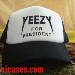 yeezy for president Trucker Hat printed design