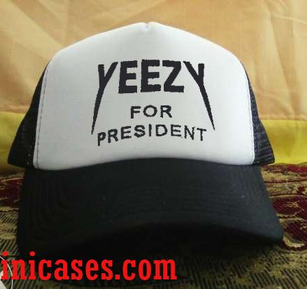 yeezy for president Trucker Hat printed design