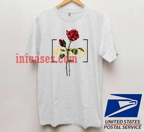 94faf0e3b23e Destroy Red Rose T shirt
