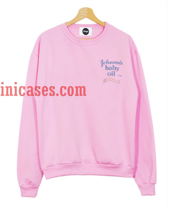 564de8bf9 Johnson's baby oil Pink Sweatshirt