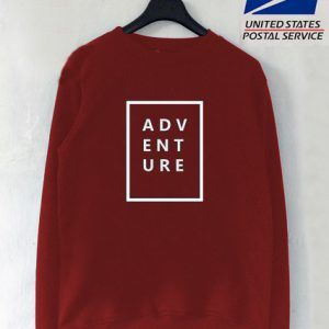 adventure Maroon Sweatshirt