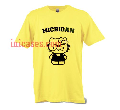 Michigan hello kitty t shirt for Hello kitty t shirt design