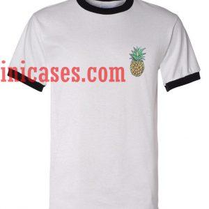 Pineapple ringer t shirt