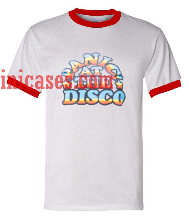 Panic At The Disco Rainbow Ringer T Shirt