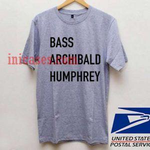 Bass Archibald Humphrey T shirt