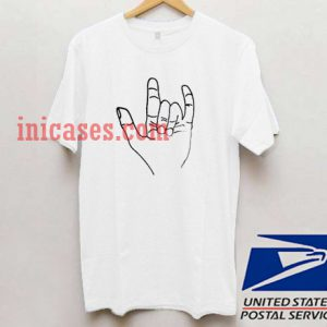 Metal Hand Sign T shirt