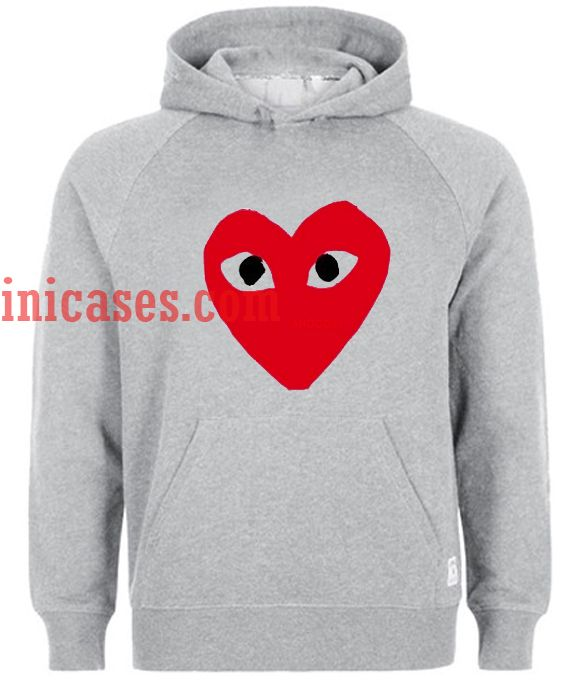 Red Heart Hoodie pullover