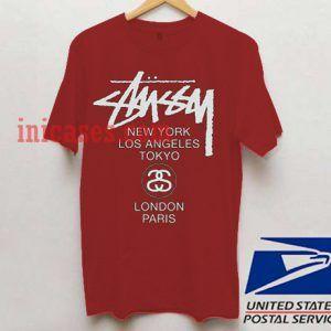 Stussy NY LA T shirt