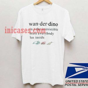 Wanderdino Definition T shirt