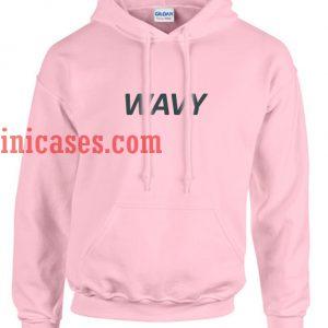 Wavy pink Hoodie pullover