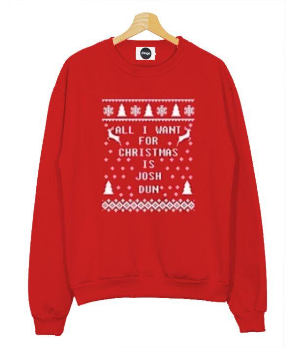 all i want for christmas josh dun twenty one pilots sweatshirt