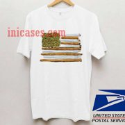 American flag weed joint T shirt