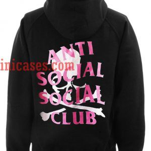 Anti Social Social CLub Pink Skull Hoodie pullover