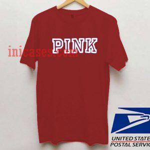 Pink Maroon T shirt