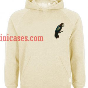 yellow parrot Hoodie pullover