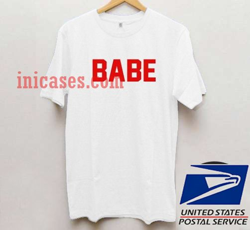 Babe Red White T shirt