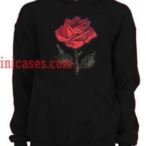 Big Rose Hoodie Pullover