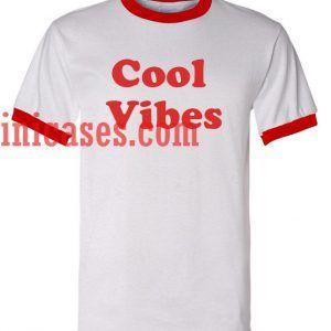 Cool Vibes ringer t shirt