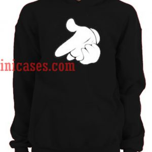 Gun Mickey Hands Hoodie pullover