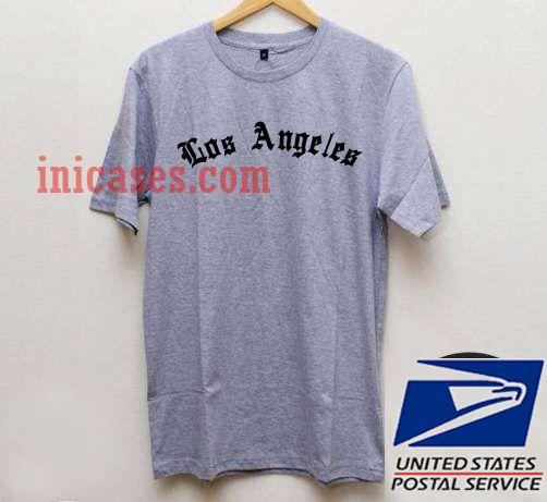 Los Angeles Grey T shirt