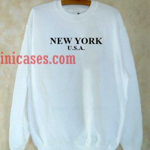 New York USA White Sweatshirt