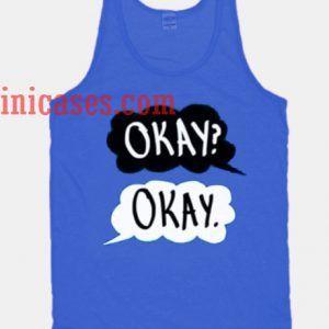 Okay Okay Blue tank top unisex