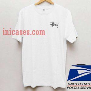 Stussy Logo Corner T shirt