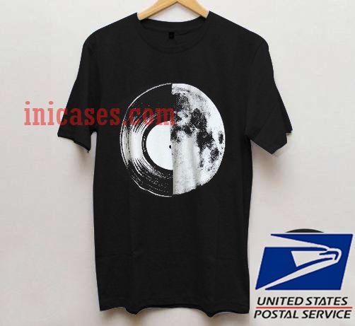 half moon record album T shirt