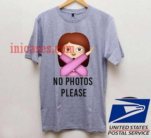 no photo please emoji T shirt