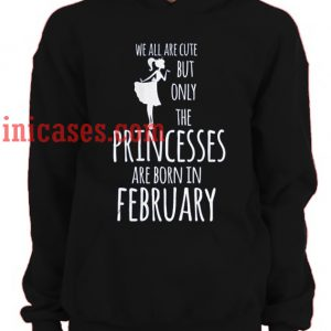 we all are cute but only the princesses are born in february Hoodie pullover