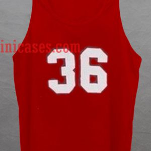 36 Red tank top unisex