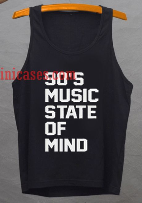 90's music state of mind tank top unisex